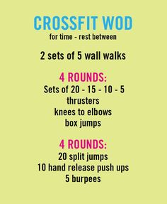 Crossfit Workout (WOD).  I did miserably in this WOD but I think it's because I need a rest day and sugar detoxing