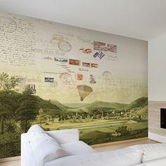 "Tres Tintas Barcelona Journeys Mural Stamps 9' x 127"" Scenic Wallpaper Color: Green Pastures"