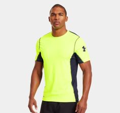 Men's HeatGear® Sonic Fitted Printed Short Sleeve