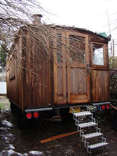 The steps. A Tiny Truck House     Polymecca House Truck