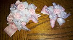 Homemade corsage and boutonniere for Daddy Daughter Dance Mcclanahan-Conway Daddy Daughter Dance, Corsage And Boutonniere, School Fundraisers, Daddys Girl, Fundraising, Florals, Homemade, Cute, Crafts