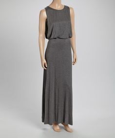 Loving this Charcoal Scoop Neck Maxi Dress on #zulily! #zulilyfinds $25