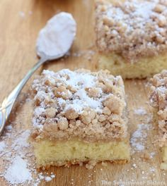 New York Style Crumb Cake Recipe - (thesemisweetsisters)