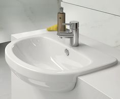 Pura Ivo Series. With a distinctive yet classic lines that would suit traditional or contemporary bathroom designs, the popular Ivo Series of sanitaryware includes washbowls and basins, WCs and bidets. With a modern living in mind, Ivo's space-saving features make it a versatile choice for compact spaces and full sized bathroom or shower-rooms alike.  #bathroom #tap #interior #design #interiordesign #architecture #beautiful #pura #basin