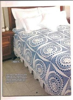 Colchas a crochet Crochet Bedspread Pattern, Crochet Table Runner Pattern, Crochet Tablecloth, Crochet Doilies, Crochet Patterns, Diy Bed Sheets, Crochet Freetress, Diy Crafts Vintage, Diy Crafts Crochet