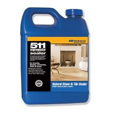 The best grout sealer recommended by the pros Miracle Sealants 511 QT SG 511 Impregnator Penetrating Sealer, Quart Best Grout Sealer, Granite Sealer, Brick Fireplace Makeover, Fireplace Remodel, Fireplace Mantel, Fireplace Ideas, Shine Your Light, Paint Stain