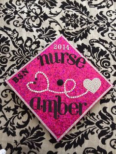 Class of 2014! My bling nursing grad cap!