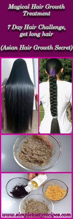 Magical Hair Growth Treatment | 7 Day Hair Challenge, get long hair (Asian Hair Growth Secret)