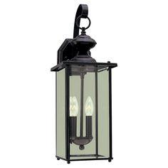 $105 Sea Gull Lighting 2 Light Outdoor Wall Lantern & Reviews | Wayfair