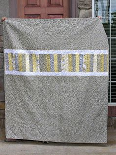 The Fleming's Nine: Gray and Yellow Quilt