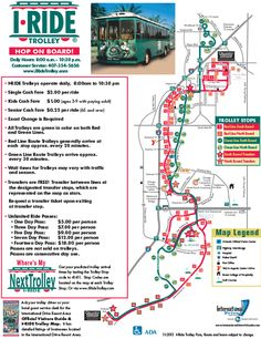 International Drive or I-Drive has a great way to get around--the I Ride Trolley! #hotel