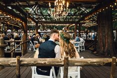 Arrowhead Pine Rose - Boho brides imagine your ceremony in a custom woodsy gazebo nestled in pine trees. Photography: Isaiah and Taylor