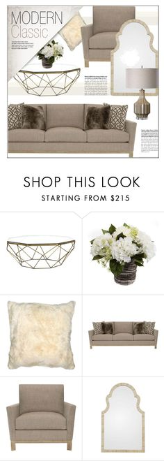"""""""Modern Classic Living Room"""" by kathykuohome ❤ liked on Polyvore featuring interior, interiors, interior design, home, home decor, interior decorating, living room, modern, livingroom and Home"""