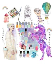 """Unicorn #3"" by elenamaria29 ❤ liked on Polyvore featuring Sugarbaby, Deborah Lippmann, In Your Dreams, RMK, NARS Cosmetics, Boohoo and claire's"