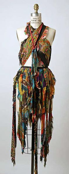Distressed silk scarf ensemble, by Giorgio di Sant'Angelo, American, spring/summer 1971.