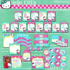 Printable PDF Hello Kitty Decorations www.mimisdollhouse.com/product/hello-kitty-party-printable-collection/