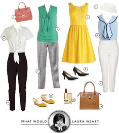 What Would Laura Petrie Wear? via Making Nice in the Midwest. Sidenote: Ya'll should go give Mandi's blog a look see! She is brilliant, funny, has fabulous style, oh and she has the custest baby girl ever. Definitely a win in my book!
