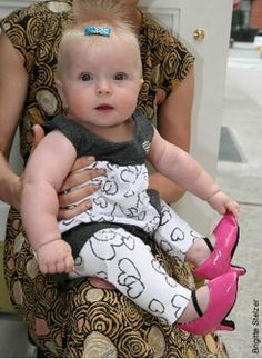 Baby High Heels:???? Can you imagine!