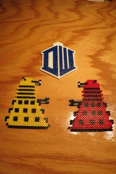 Dr.+Who+Dalek+Tardis+Ornaments+Perler+Beads+by+QuigleyArts+on+Etsy,+$12.99