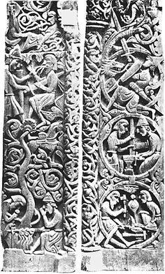 Hylestad Church Doors, Norway, 12th cent. A.D.