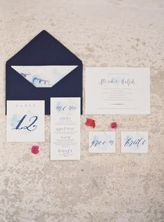 Photography : Les Anagnou Wedding stationery www.atelier-invitations.gr photographers Read More on SMP: http://www.stylemepretty.com/destination-weddings/2016/03/22/romantic-mykonos-inspiration-shoot-in-shades-of-blue-white/