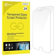 cool iPhone 6s Screen Protector, JETech 2-Pack  Premium Tempered Glass Screen Protector Film for Apple iPhone 6 and iPhone 6s Newest Model 4.7