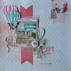 scrapbook page layout Scrapbook Bebe, Birthday Scrapbook, Scrapbook Paper Crafts, Scrapbook Albums, Scrapbook Cards, Baby Girl Scrapbook, Scrapbook Layout Sketches, Scrapbooking Layouts, American Crafts