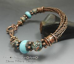 COPPER BRACELET Donna Millard SRA viking knit by DonnaMillard