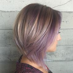 Ash+Brown+Bob+With+Purple+Balayage