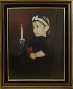 """Portrait of Daughter Yoav Paniri."" #Creative #Art in #painting @Touchtalent"