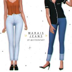 Resultado de imagen de SYNTHsims Bottom SkinTight Jeans FIXED