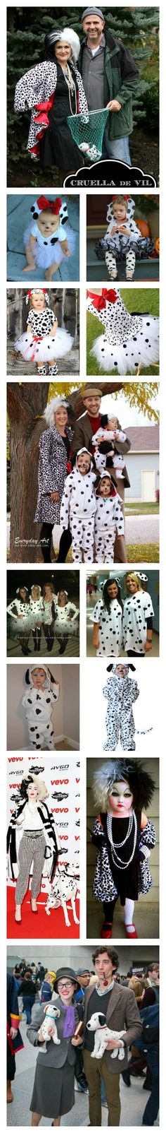 Disney's 101 dalmations costume ideas
