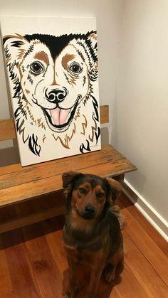 Dalmatian Dog Portrait 3D Decoupage by Liz Harrison