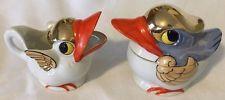 Vintage Lusterware Ducks, Birds Sugar & Creamer, Japan 1920's Cute!
