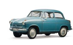 """1958 Lloyd LP 600 Alexander. There was even power to be had – 19 horses to be exact, pumping furiously out of the 596cc Borgward twin. The Lloyd 600 was introduced in 1955 but production stopped in 1957 because the cars were too basic. A revamped model appeared in 1958 with the """"Alexander"""" tag attached – it was nice enough to come with a headliner, windows and a trunk lid!"""
