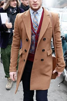 Double breasted Camel hair topcoat
