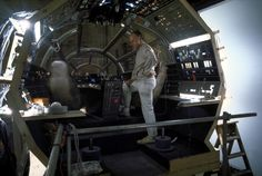 On the set of Star Wars - Millennium Falcon cockpit