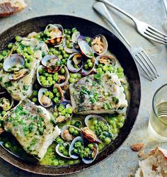 Cod with Peas and Parsley - The Happy Foodie