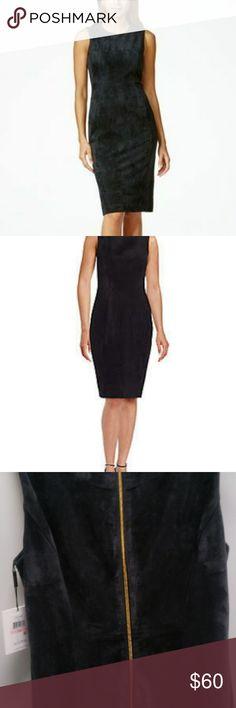 Suede Gray dress Calvin Klein suede dress Calvin Klein Dresses