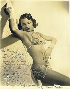 Exotic dancer Sahji (Madeline Jackson) was a headline dancer at the Cotton Club from 1933 to She's beautiful! Black Pin Up, Black Art, Vintage Black Glamour, Vintage Beauty, 1920s Glamour, Vintage Vogue, Vintage Hollywood, Pin Up Girls, Pin Up Noire
