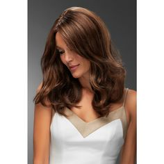 The wavy, long length human hair wig, Angie by Jon Renau features a lace front and hand tied monofilament cap. Natural Curls, Natural Hair Styles, Long Hair Styles, Remy Human Hair, Human Hair Wigs, Jon Renau, Hair System, Hair Again, Alternative Hair