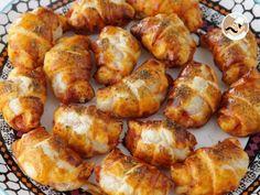 Croissants pizza de jamón y queso, foto 1