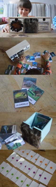 Aujourd'hui on change un peu de domaine, partons à la découverte des animaux! Il s'agit de classer les étiquettes des animaux dans les tiroirs en fonction de ce qui les recouvre : plumes, poils ou écailles. J'ai trouvé ce petit meuble chez Babou et j'ai recouvert les tiroirs avec des plumes, de la [...]