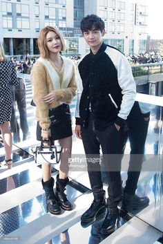 Soo Young (L) and Min Ho attend the Coach presentation during Spring 2016 New York Fashion Week on September 15, 2015 in New York City.  (Photo by Michael Stewart/WireImage)