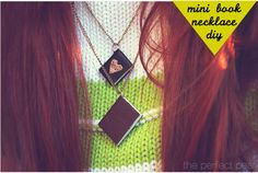Mini book necklace DIY