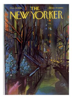 The serenely lovely Christmas themed cover of The New Yorker, December 18, 1965. #vintage #1960s #magazines #Christmas