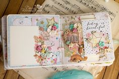Всем привет! В блоге Scraptherapy недавно вышло задание-скетч  и я сделала по нему мини альбом - дневник беременности. Коллекция примы н...