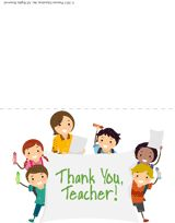 8 Free Printable Thank-You Cards for Teachers -- great for Teacher Appreciation Week (first full week in May) or end of the school year!
