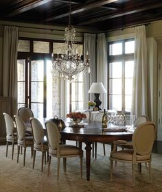 Old World Dining Room    Add a sense of history with rich, time-treasured materials and finishes.