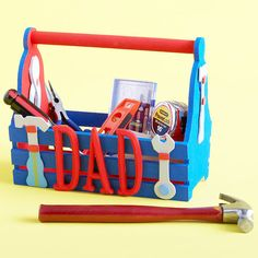Dad's Own Toolbox ~ Give Dad's tools a special place with a new toolbox made by the kiddos